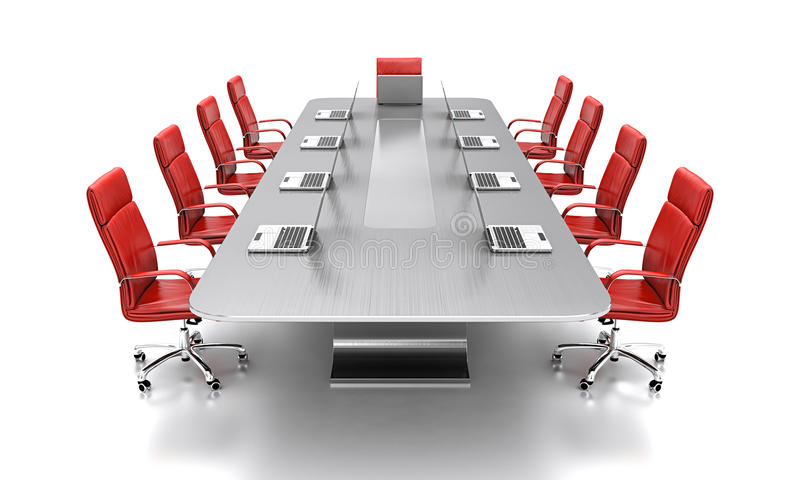 Conference table. vector illustration