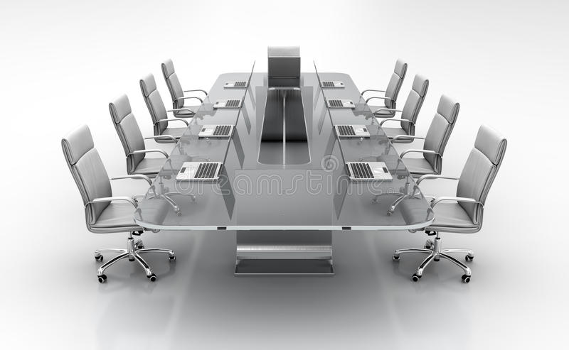Conference table. royalty free stock photo