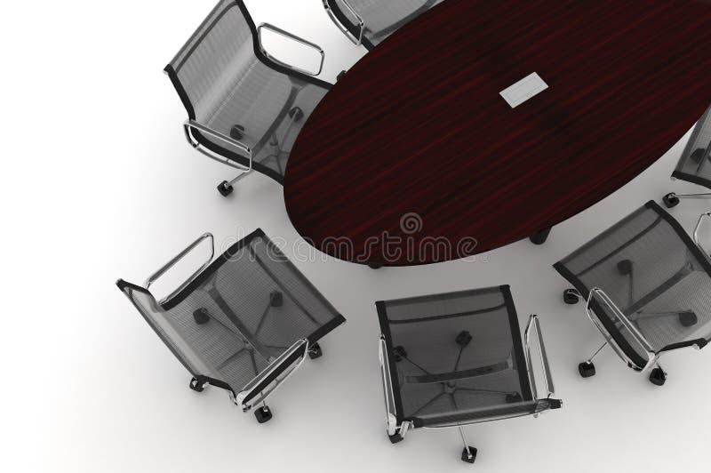 Conference Table-3d illustration vector illustration