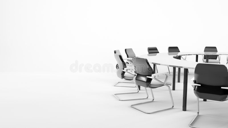Conference Table. Isolated Conference table with chairs