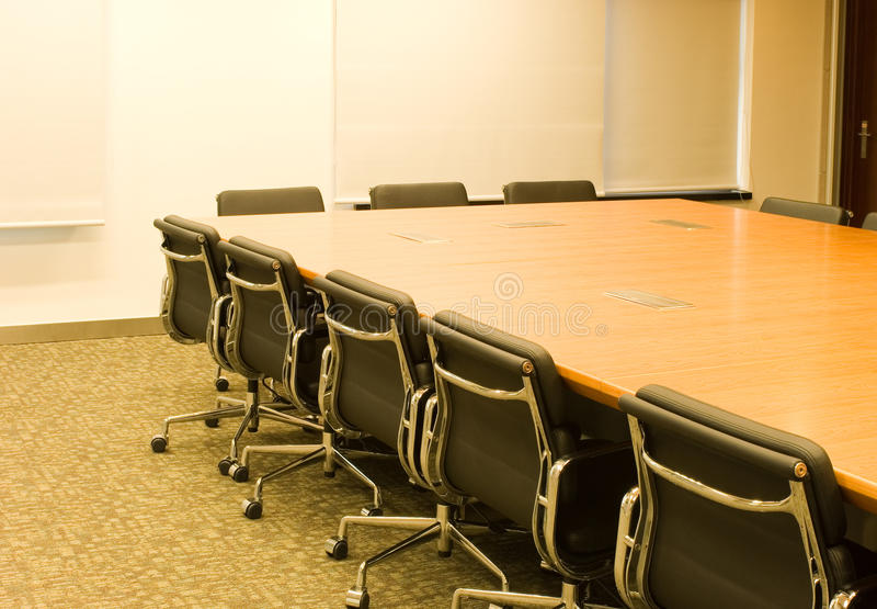 Download Conference table and chair stock image. Image of light - 12768601