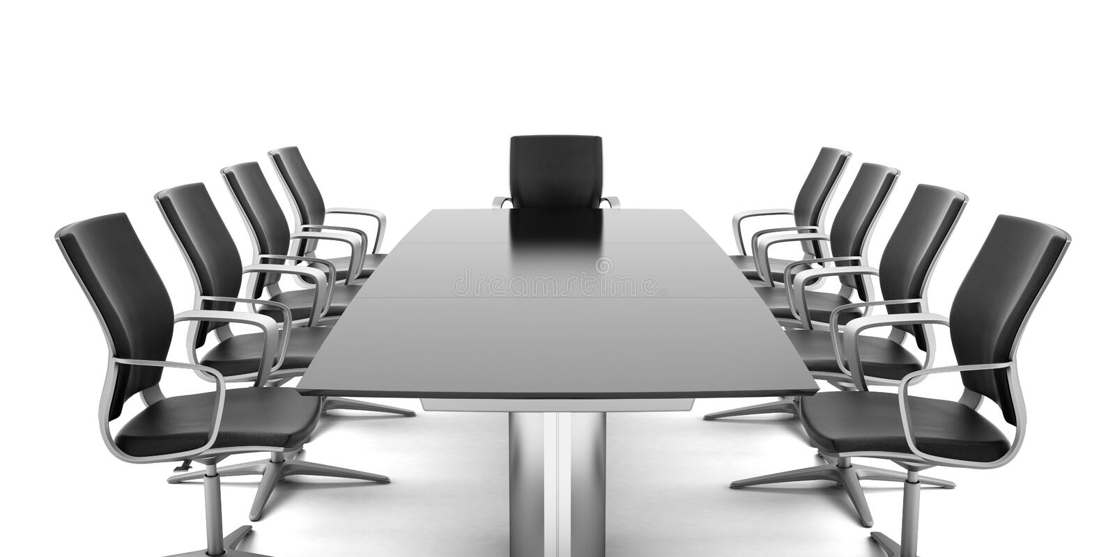 Conference Table with chairs stock illustration