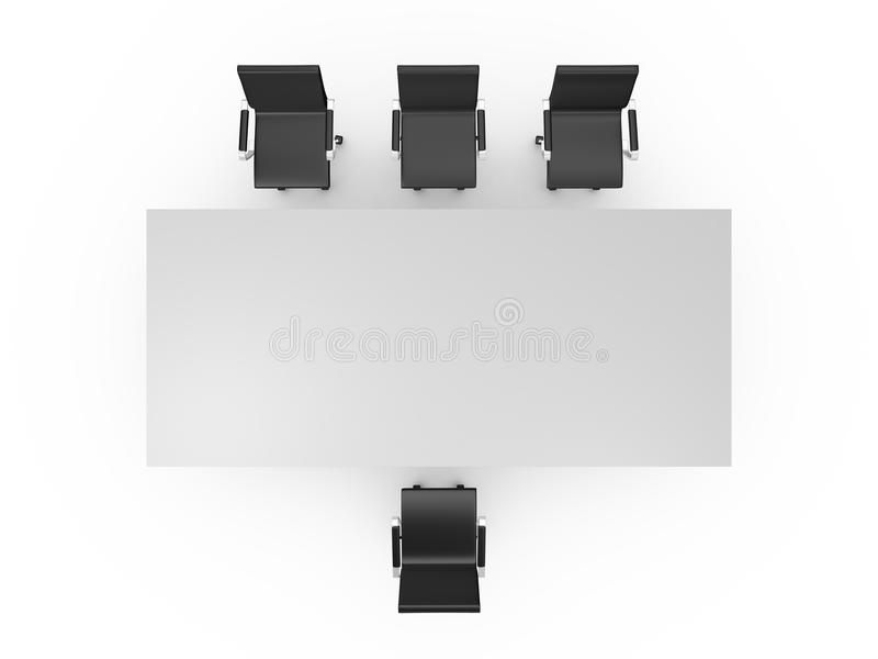 Conference Table And Office Chairs Stock Illustration - Illustration ...