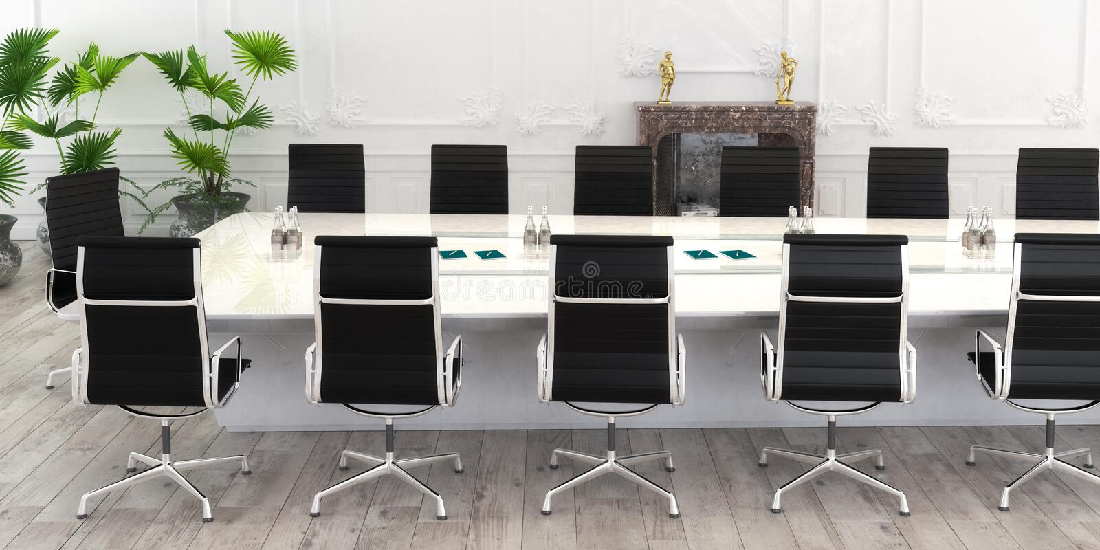 Conference Table panoramic vector illustration