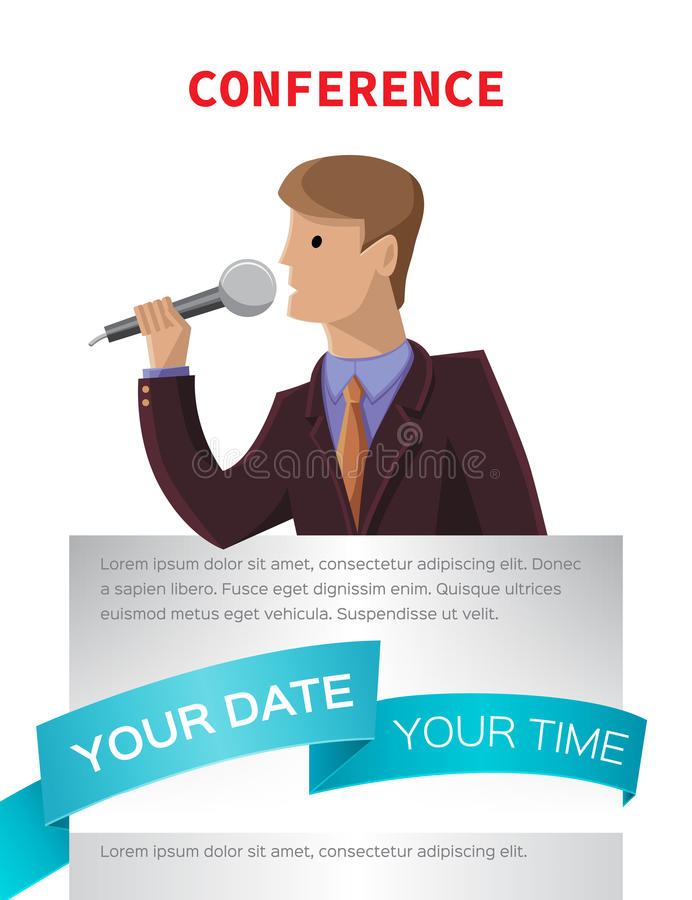 Conference template illustration. With space for your texts vector illustration