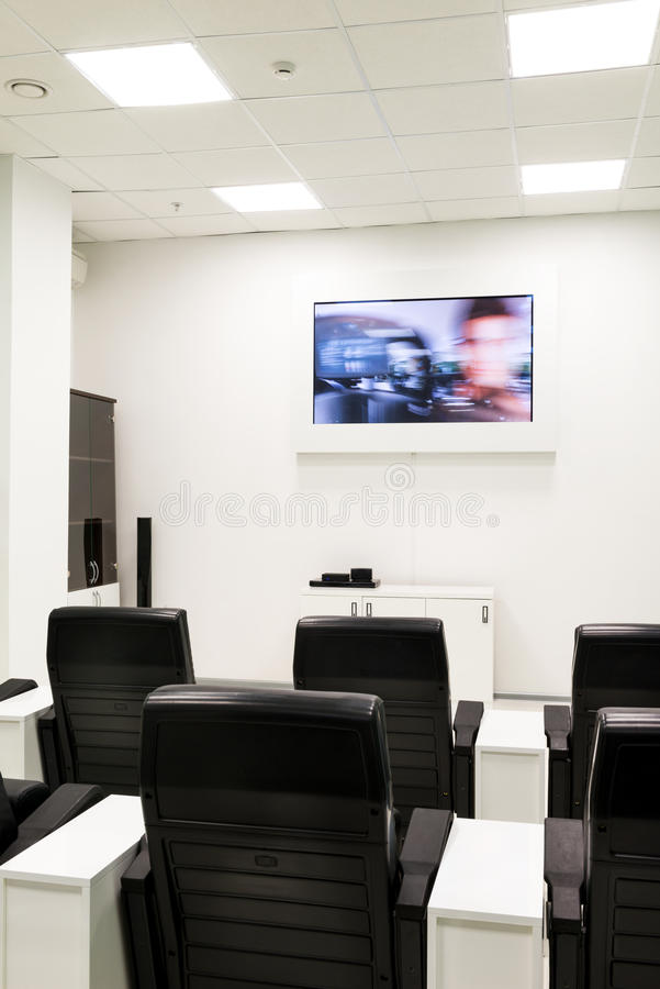 Download Conference Training Room With Video Stock Photo - Image of cinema, center: 28691030