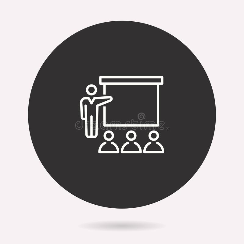 Conference - vector icon. Illustration isolated. Simple pictogram. Conference icon. Vector illustration isolated. Simple pictogram for graphic and web design stock illustration