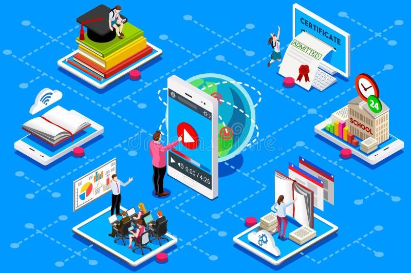 Conferencia de la reunión del certificado del web de la educación stock de ilustración