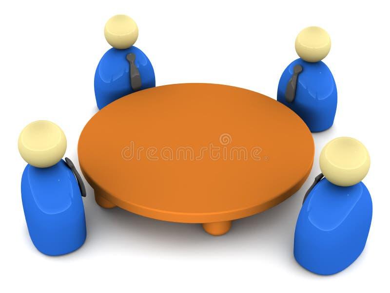 Conferencia de mesa redonda ilustración del vector