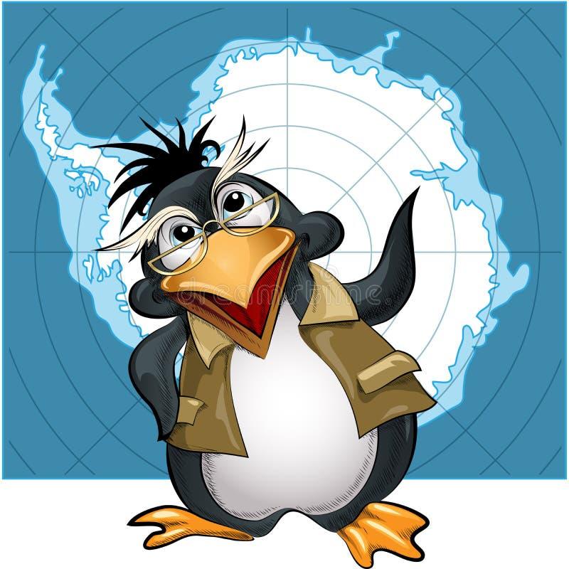 Conferenciante del pingüino ilustración del vector