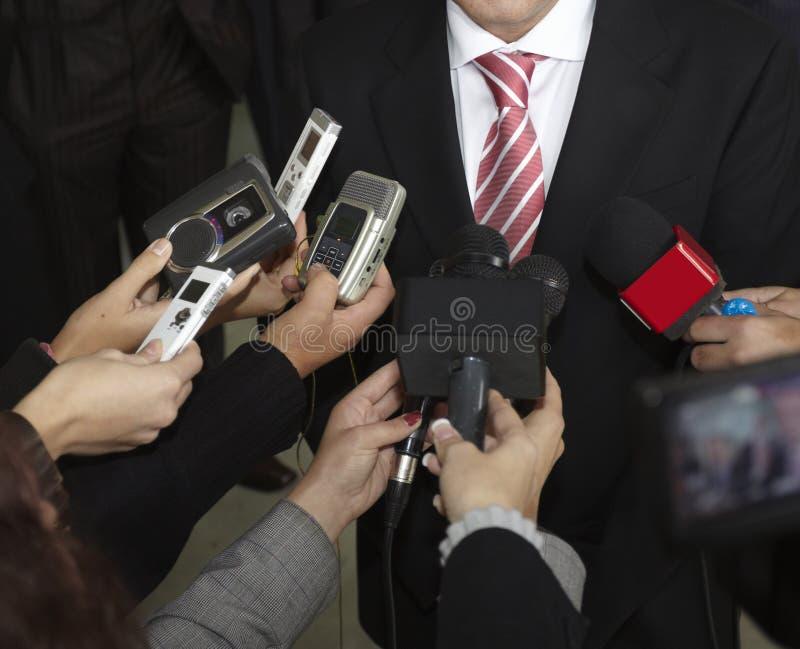 conferentie microfoons royalty-vrije stock foto's