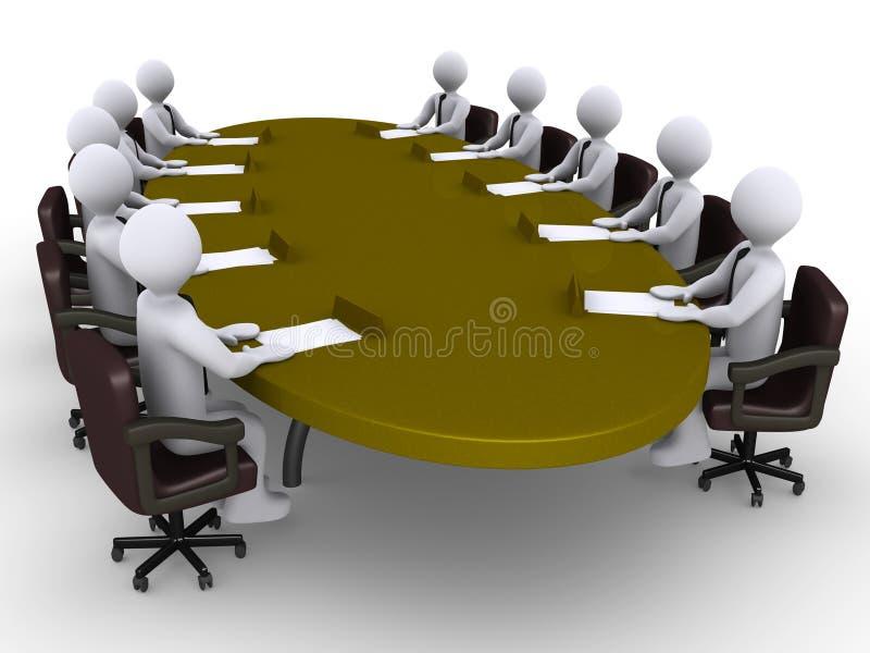 Conferentie tussen zakenlieden vector illustratie