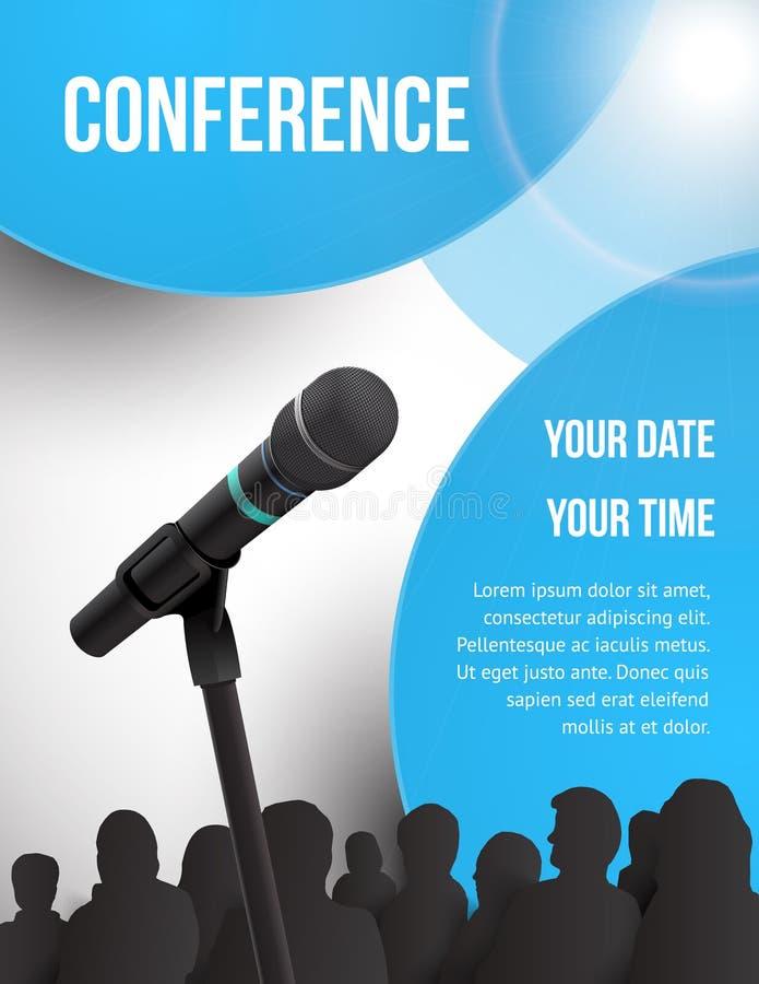 Conferentieillustratie stock illustratie