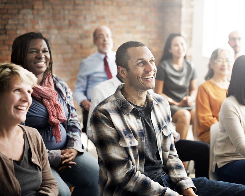 Conferenza corporativa Team Collaboration Concept di seminario immagine stock libera da diritti