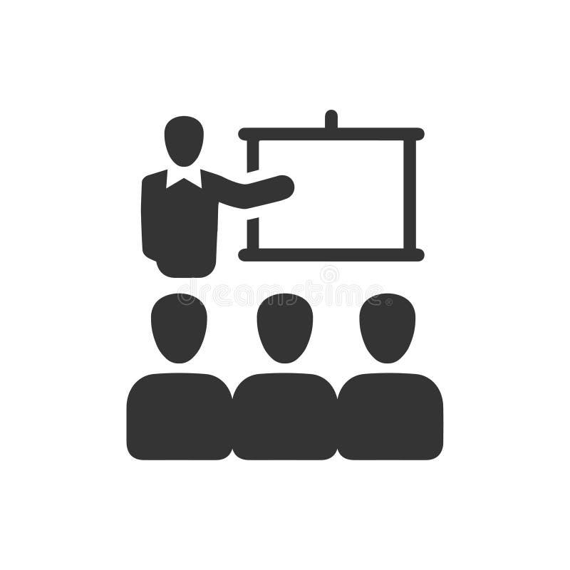 Conferenza, icona di conferenza illustrazione di stock
