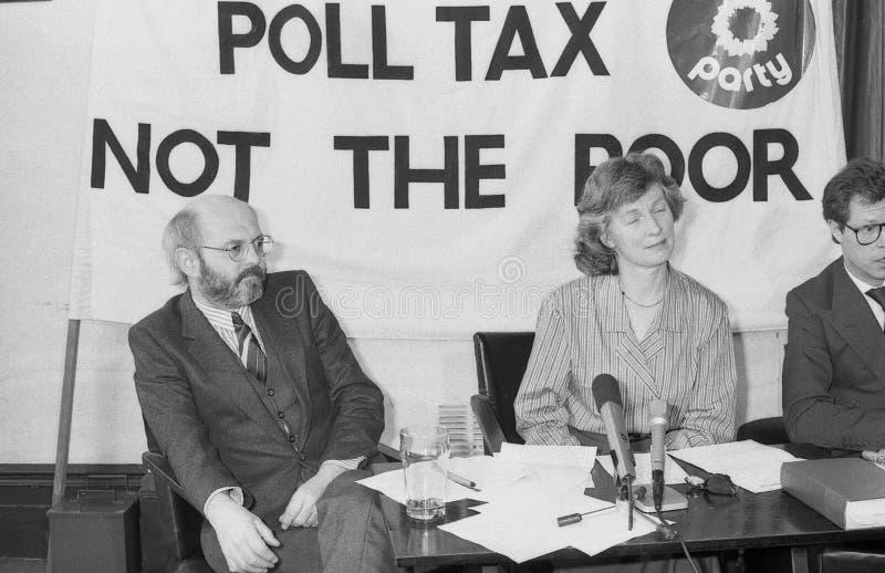 Conferenza stampa del Partito Verde immagini stock libere da diritti