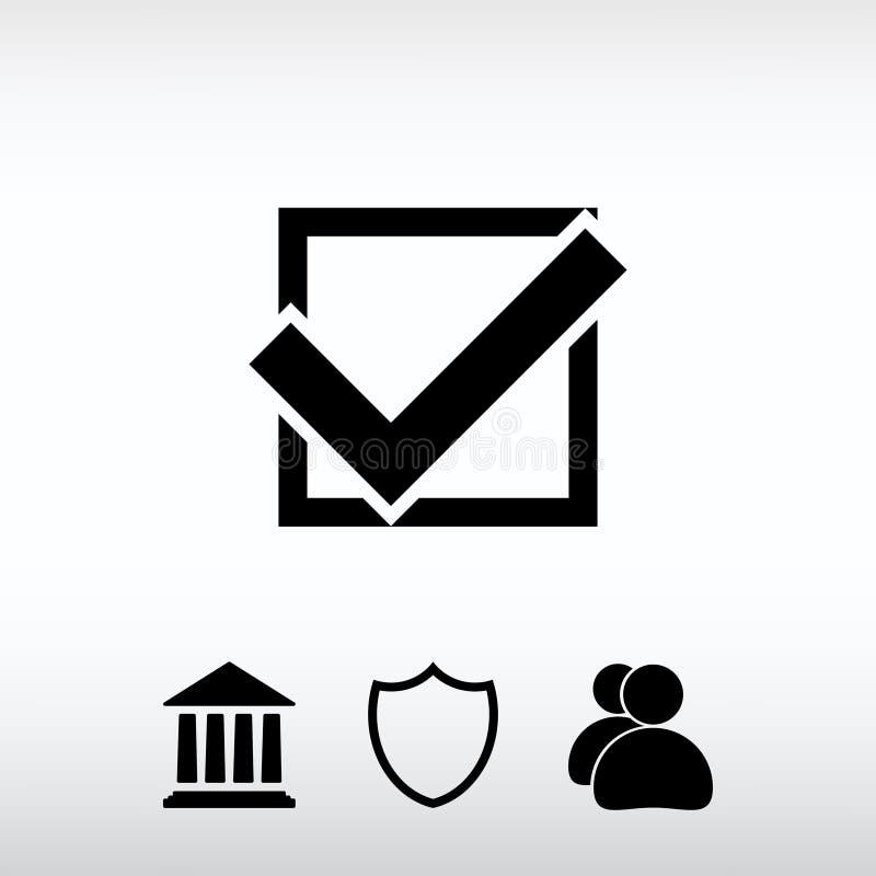 Confermi le icone; vector l'illustrazione Stile piano di progettazione immagini stock libere da diritti