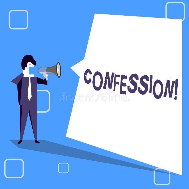 Confessione di scrittura del testo della scrittura Asserzione di espressione di Divulgence di rivelazione di rivelazione di ammis illustrazione di stock