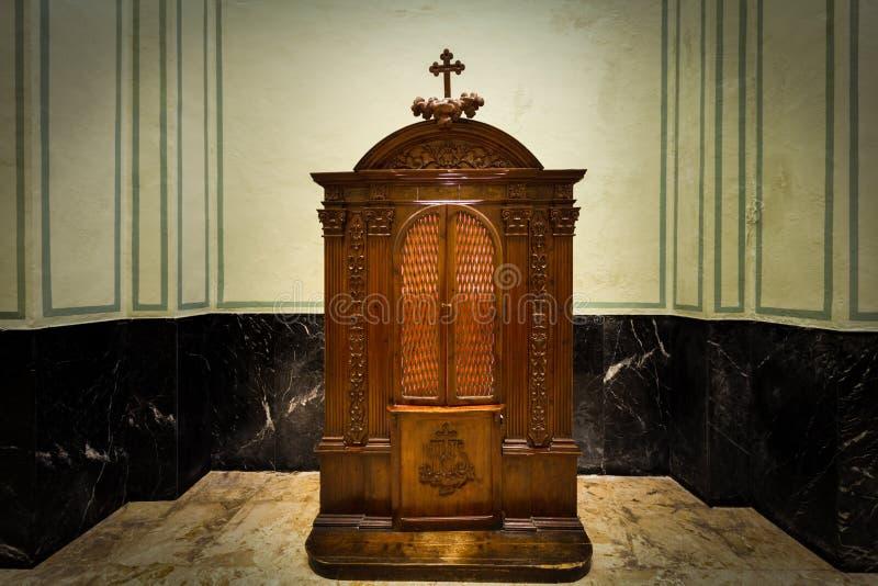 confessionnel photo stock