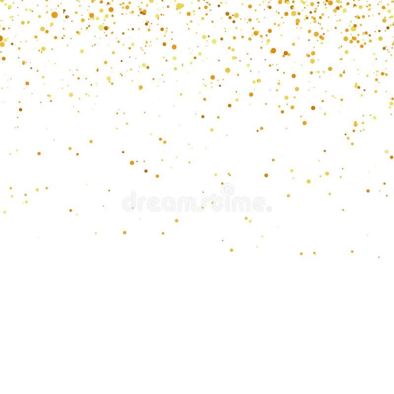 Confetes amarelos isolados Peças abstratas do ouro ilustração do vetor