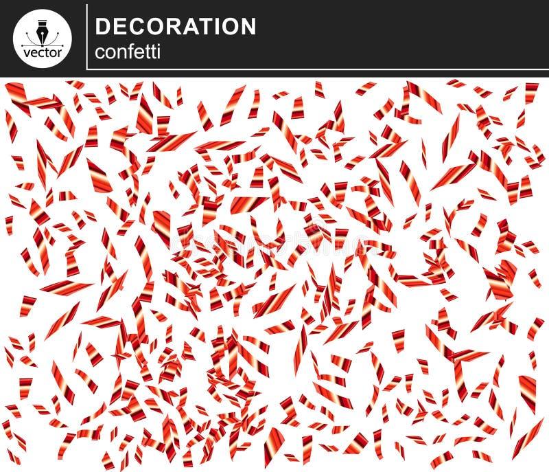 Confetes brilhantes vermelhos ilustração do vetor