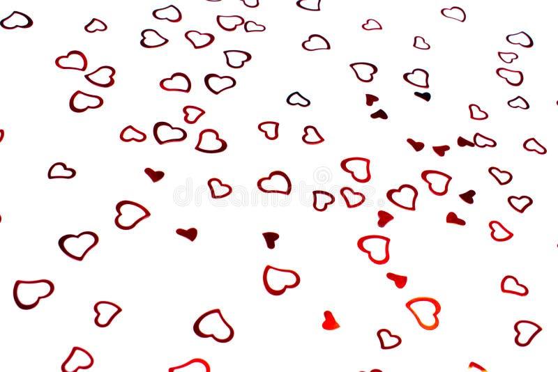 confetes Coração-dados forma no fundo branco foto de stock royalty free