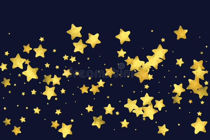 Confetes de prata da estrela ilustração do vetor