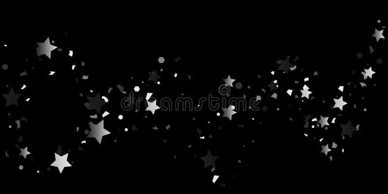Confetes de prata do brilho ilustração do vetor