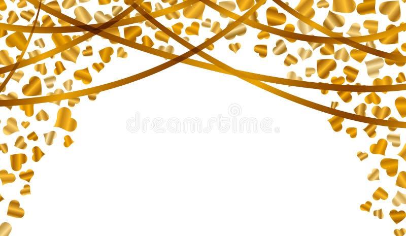 Confetes de queda do coração ilustração royalty free