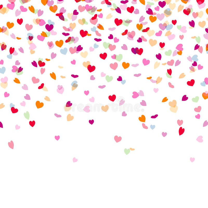 Confetes do coração ilustração royalty free