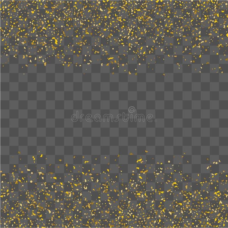 Confetes dourados do brilho ilustração royalty free