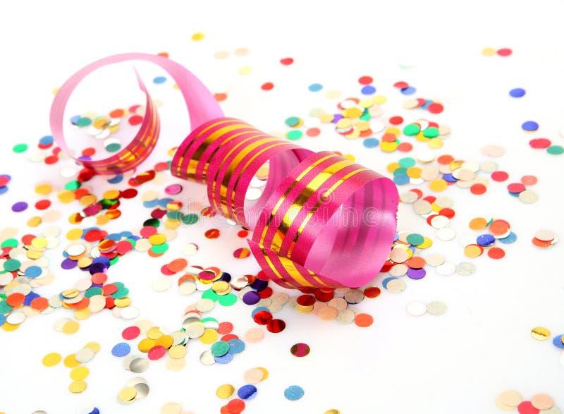 Confetes e flâmula foto de stock