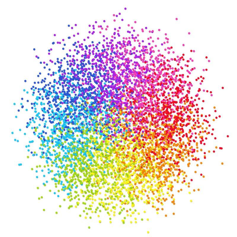 Confetes estilizados do projeto elemento colorido isolados na parte traseira do branco ilustração royalty free
