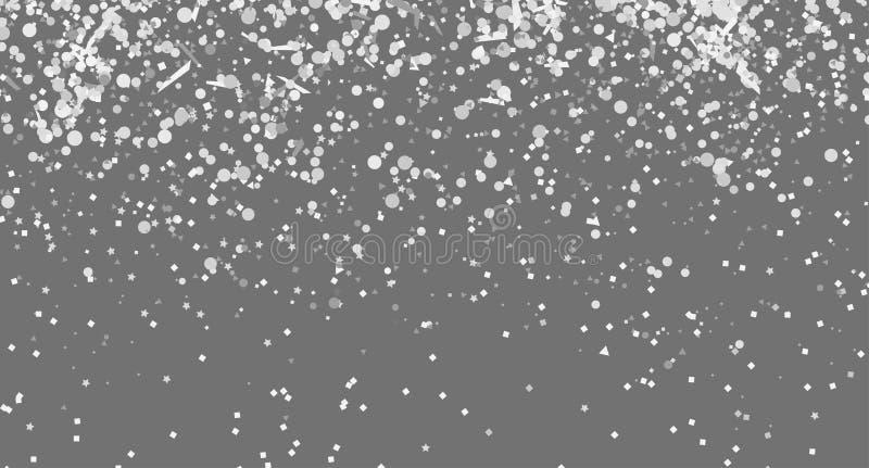 Confetes no fundo escuro isolado Textura luxuosa Contexto festivo com brilhos  ilustração stock