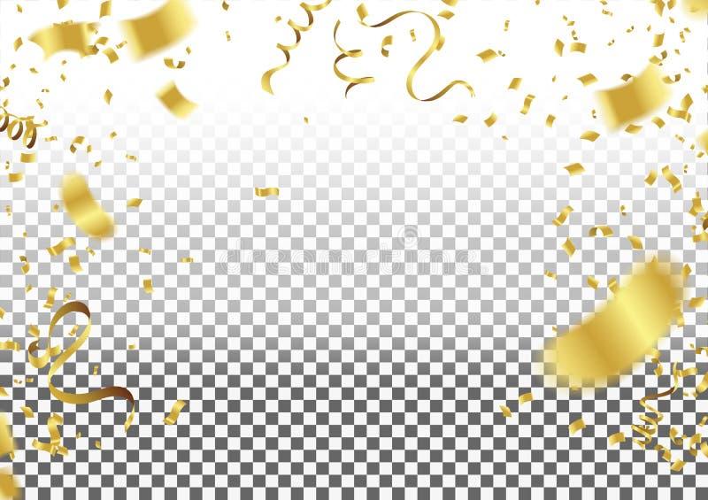Confetes que caem no fundo Ilustração do vetor CCB do elemento ilustração royalty free