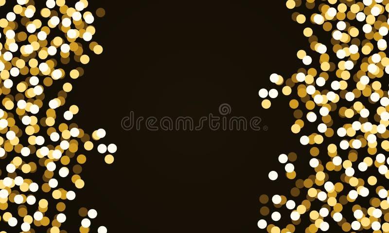 Confetes redondos do brilho do ouro ilustração do vetor