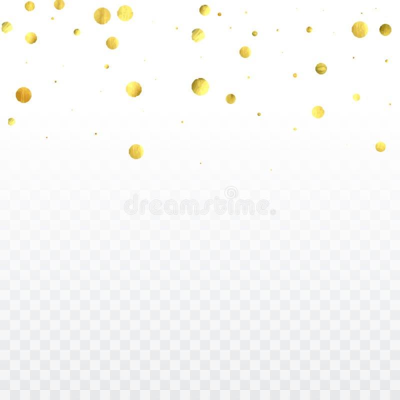 Confetes redondos do ouro ilustração do vetor