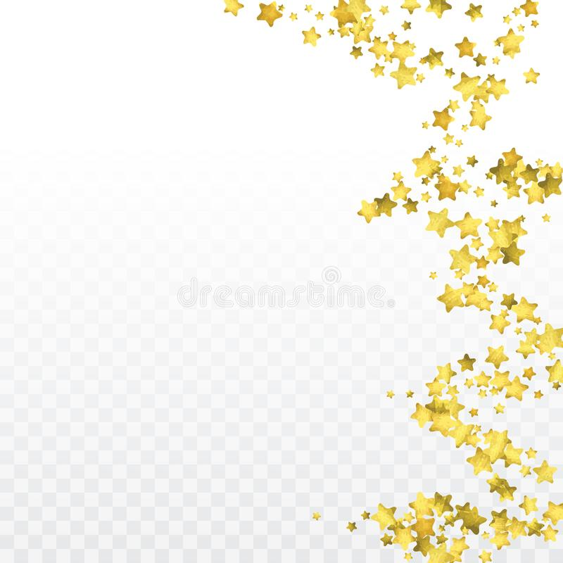 Confetes redondos do ouro ilustração royalty free