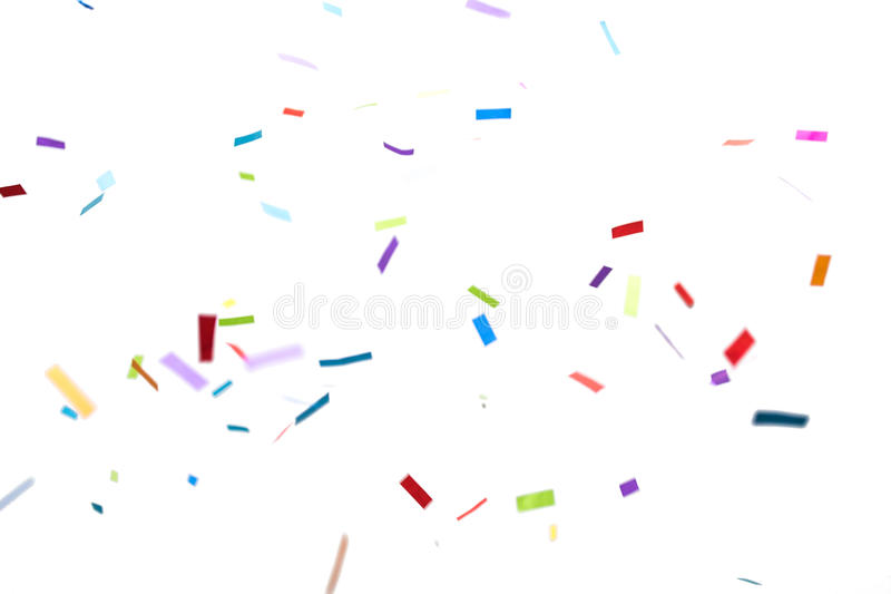 Confetes sobre o fundo branco foto de stock