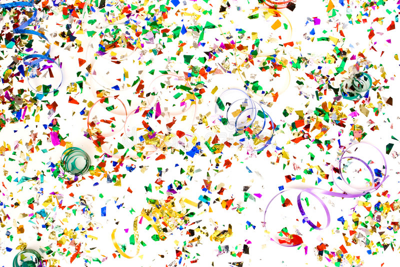 Confeti imagen de archivo libre de regalías