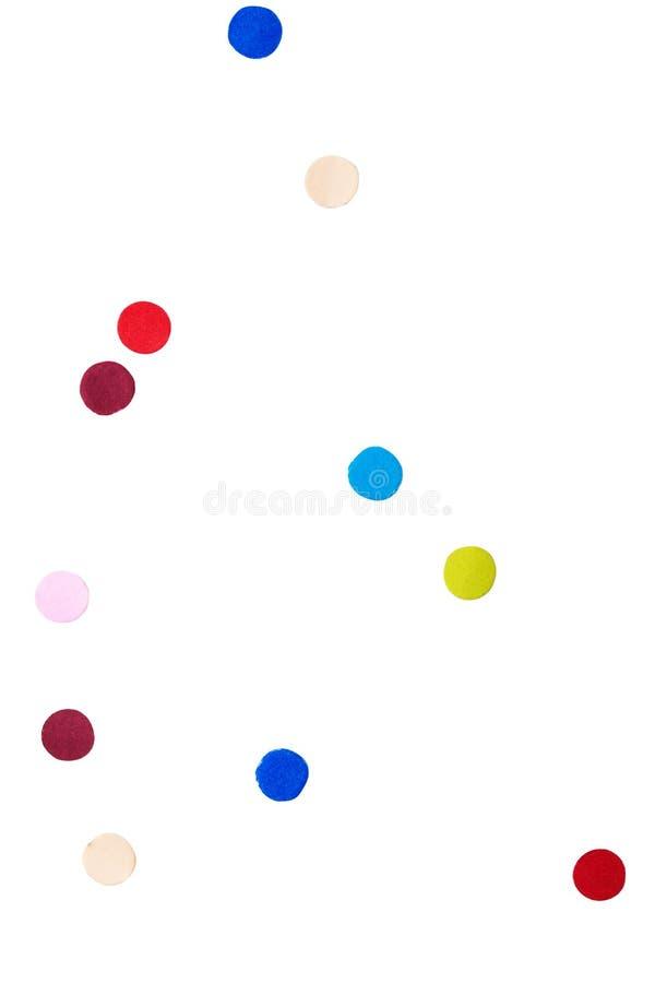 Confeti colorido en blanco aislado libre illustration