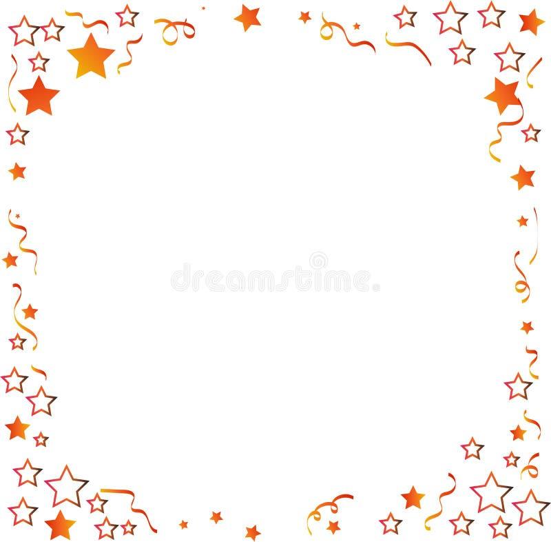 Confeti con vector del fondo de las estrellas stock de ilustración