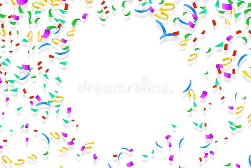 Confeti feliz 05 ilustración del vector