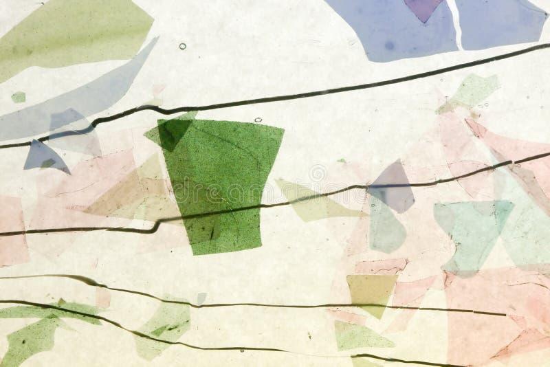 Confeti fundido del vidrio manchado foto de archivo