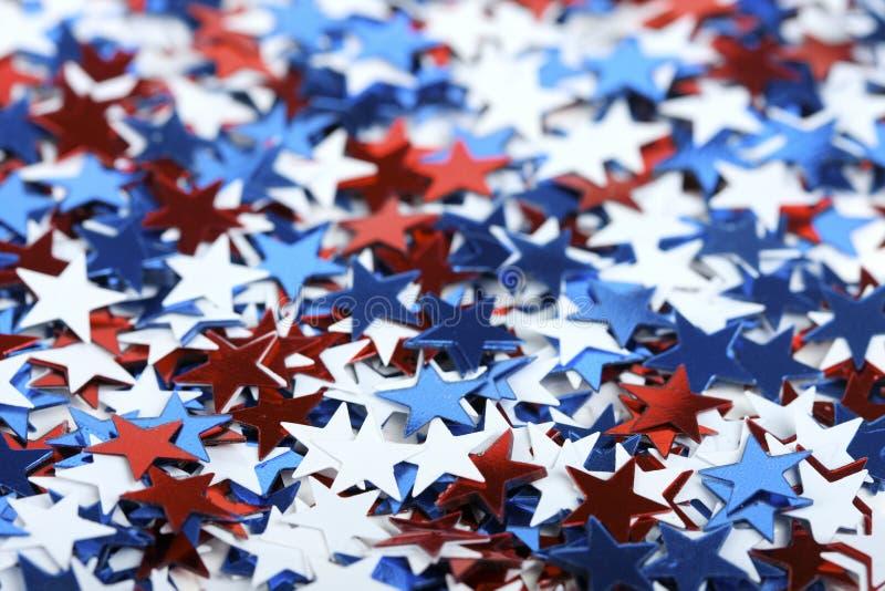 Confeti patriótico foto de archivo libre de regalías