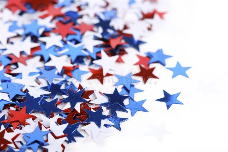 Confeti patriótico imagen de archivo libre de regalías