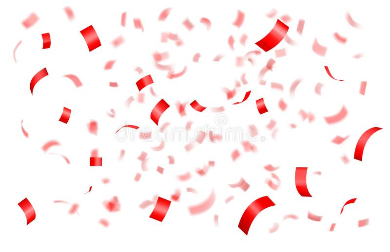 Confeti rojo brillante que cae libre illustration