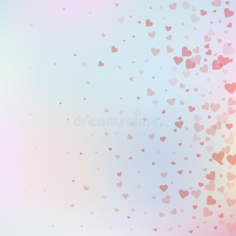 Confetis rojos del amor del corazón Pendiente del día de tarjeta del día de San Valentín libre illustration