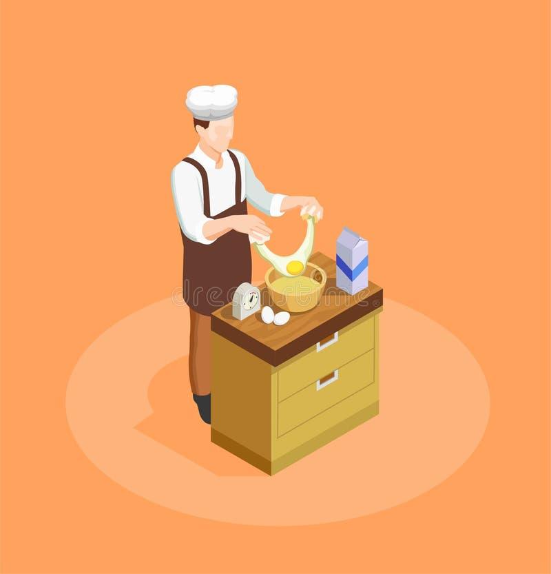 Confetteria e cuoco unico Illustration del forno royalty illustrazione gratis