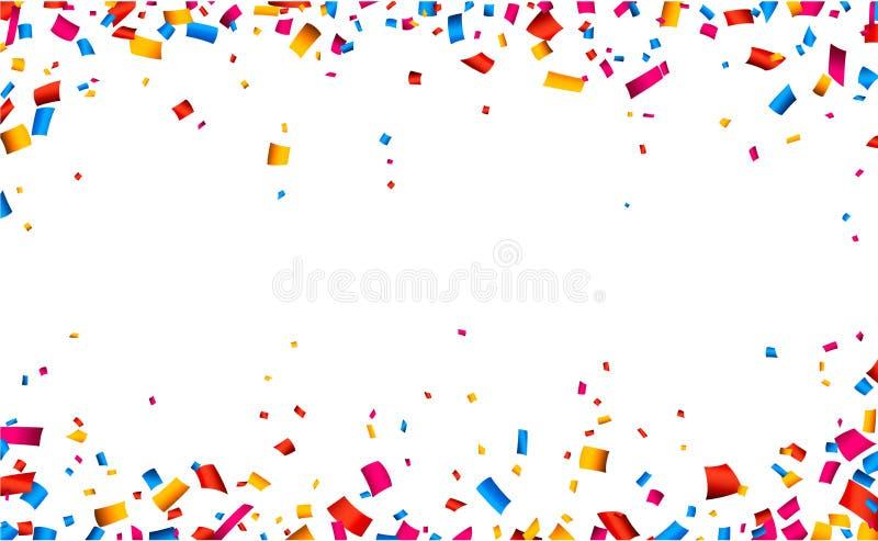 Confetti świętowania ramy tło royalty ilustracja